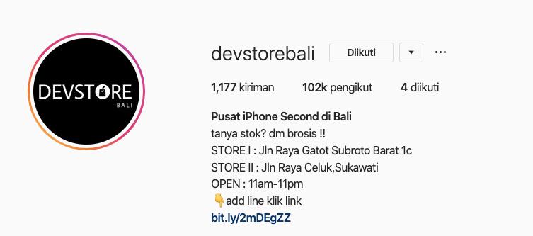 Devstore Jual iPhone Bekas dan Service iPhone di Bali